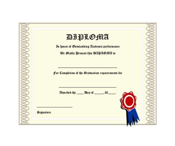 Diploma for special ability