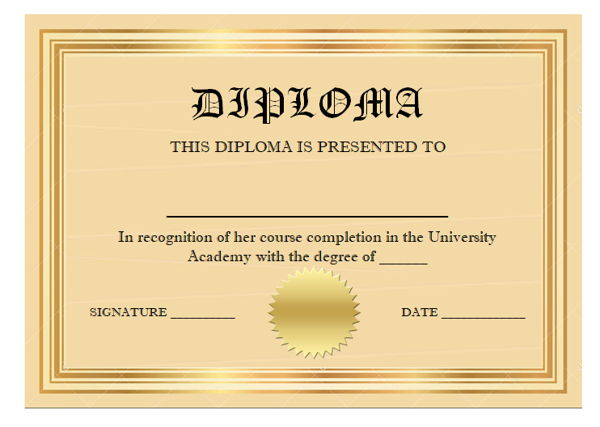 20  high school diploma templates to download and print  2020